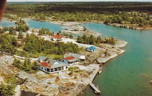 Aerial View, Key Harbour, Georgian Bay, AALTO'S ISLE, Ontario, Canada, 40-60's