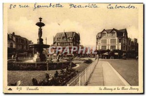 Old Postcard Deauville Morny and the Place Morny