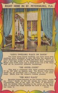 ST. PETERSBURG, Florida, 1930-40s; World's Most Wonderful Shrine, Moses Tabe...