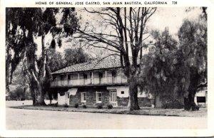 California San Juan Bautista Home Of General Jose Castro