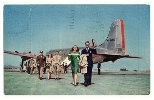 National & International Route De The Flagships Américain Airlines Postale 1948