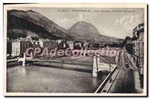 Old Postcard Grenoble Quays And St Eynard