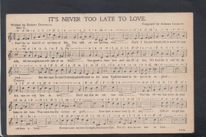 Music Postcard - Musical Notes For It's Never Too Late To Love HP316
