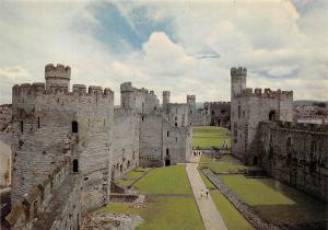Caernarfon Castle, Gwynedd Interior Looking East Chateau
