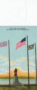 METROPOLIS , Illinois , 1955 ; Flags at Fort Massac
