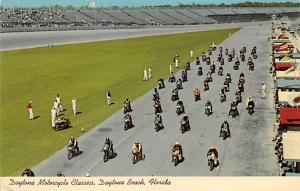 Motorcycle Classic, Daytona Beach, Florida, USA Auto Race Car, Racing Postcar...