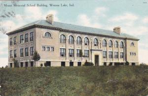 Indiana Winona Lake Mount Memorial School Building 1909
