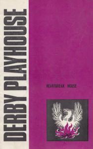 Heartbreak House George Bernard Shaw Derby Playhouse 1970s Theatre Programme