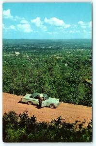 Postcard AR Hot Springs National Park Rector Heights Scenic Drive 1950's Old Car