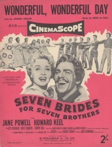 Wonderful Wonderful Day Seven Brides For Seven Brothers Sheet Music