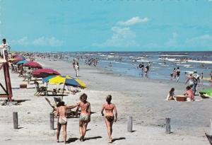 GALVESTON , Texas , 1970s ; Galveston Island , Steward Beach & Bikini girls