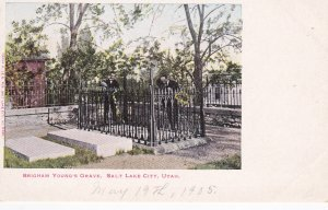 SALT LAKE CITY , Utah , 1901-07 ; Brigham Young's Grave