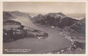 Switzerland Blick vom Frohnalpstock auf Brunnen Vierwaldstaettersee &  Zug...