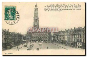 Old Postcard Arras Town Hall and the Small Square