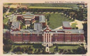 Minnesota Rochester Aerial View Of St Mary's Hospital 1949 Curteich