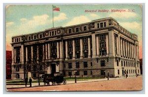 Vintage 1913 Postcard Panoramic View The Municipal Building Washington DC