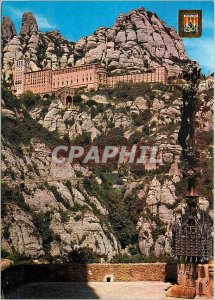 Modern Postcard of Montserrat Monastery View of the Way of the Holy Cave