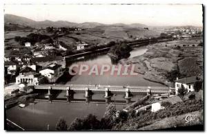 Postcard Modern Customs Behobie Frontiere Franco Spanish international bridge...