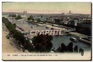 Old Postcard Paris Seine View taken from the Pavillon de Flore