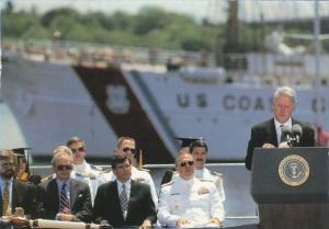 President Bill Clinton Speaks To Graduates At Coast Guard Academy New London ...