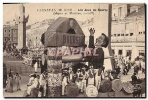 Old Postcard Bank Exchange Nice Carnival Games