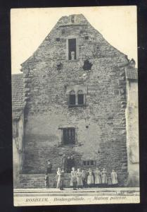 ROSHEIM HEIDENGEBAUDE MATSON PATENNE GERMANY ANTIQUE VINTAGE POSTCARD