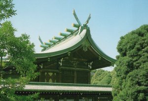 The Main Shrine of the Meiji Jingu View Japanese vintage postcard