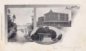FAIR HAVEN, Vermont, 1901-1907; Carvers Falls, Soldiers Monument, Hotel Allen