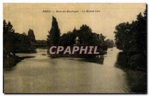 Old Postcard Bois de Boulogne Paris Le Grand Lac