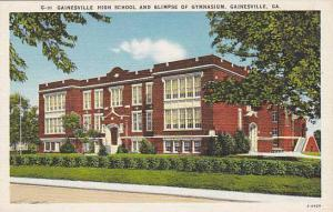 Gainesville High School and Glimpse of Gymnasium, Gainesville, Georgia,30-40s