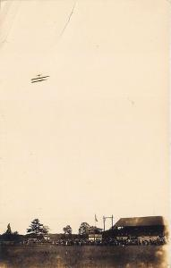 Weymouth MA Airport Airplane N. E. Williams publisher RP Postcard