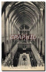 Postcard Old Albi Cathedral Interior of the Nave view from the Organ Gallery