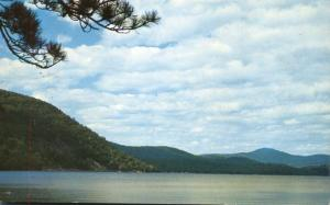 Newfound Lake from Sugarloaf Mountain - Bristol NH, New Hampshire - pm 1958