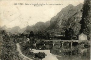 CPA AK INDOCHINA Tonkin Pont de Tong-Hue VIETNAM (956546)
