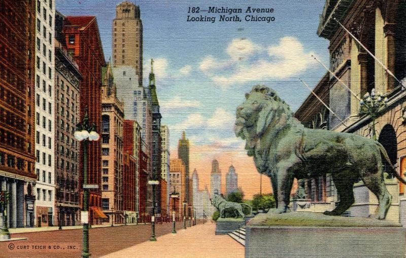IL - Chicago. Michigan Avenue looking north
