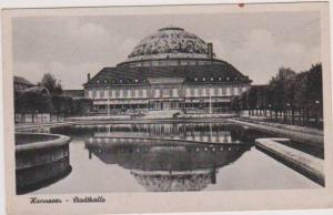 View of Stadthalle from Reflection Pool, Hannover, Lower Saxony, Germany