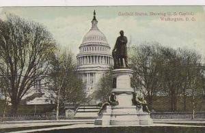 Washington Dc Garfield Statue Showing U S Capitol