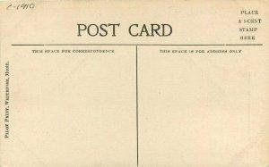 Whitefish Montana Lake Big Trout live Pilot Print Postcard 21-6949