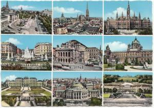 Vienna, Wien, multi view, used Postcard