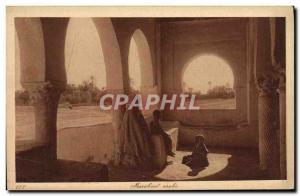 Old Postcard Marabout Arab Children