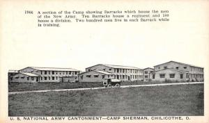 Chillicothe Ohio Camp Sherman Army Cantonment Antique Postcard K93575