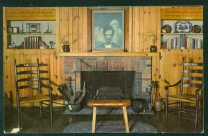 Lincoln Room Carl Sandburg Prairie Years Home Vintage Postcard
