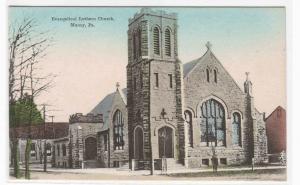Evangelical Lutheran Church Muncy Pennsylvania 1910c postcard