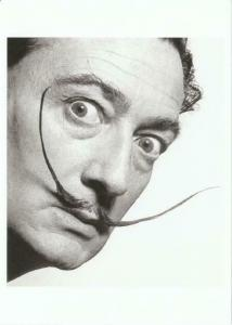Salvador Dali and Mustache in 1954 by Philippe Halsman Modern Postcard #2