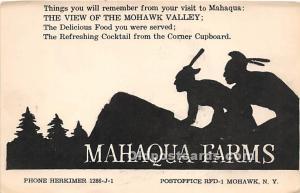 Mahaqua Farms Mohawk Valley, NY, USA Indian Unused
