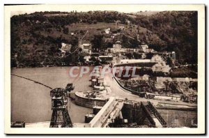 Postcard View of Old Genissiat & # 39ensemble Lake and Dam Electricity