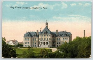 Manitowoc Wisconsin~Holy Family Hospital~Circle Drive~2 story House~c1910