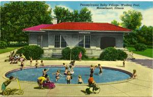 Pennsylvania Baby Village - Wading Pool - Mooseheart IL, Illinois - pm 1971