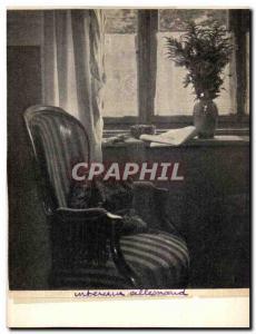 Old Postcard German Interior