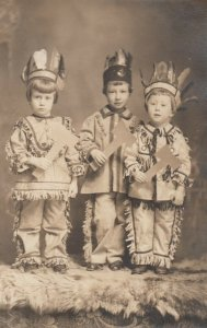 RP: 3 children in indian costumes , 00-10s